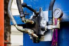 Hydraulische Klep in de machine van de wegboring royalty-vrije stock afbeelding