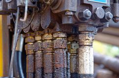 Hydraulische Machines stock foto's