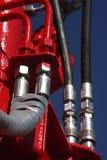 Hydraulische schakelaar. stock foto