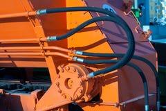 Hydraulische slangen van tractor Stock Afbeelding