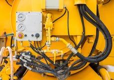 Hydraulische vacuümvrachtwagen Royalty-vrije Stock Fotografie
