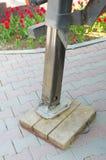 Hydraulische voet van de kraan royalty-vrije stock fotografie