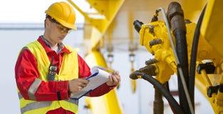 Hydraulischer Ingenieur lizenzfreies stockbild