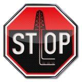 Hydraulisches Zerbrechen des Stoppschildes nicht lizenzfreie abbildung