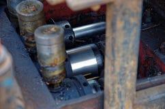 Hydraulisk cylinder arkivbilder