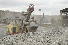 Hydraulisk grävare arkivbild