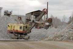 Hydraulisk grävare Royaltyfria Bilder