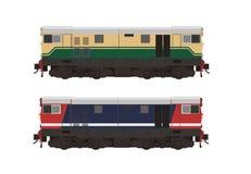 Hydraulisk illustration för diesel- lokomotiv Royaltyfri Illustrationer