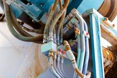 Hydraulisk kabelanslutning Arkivfoton