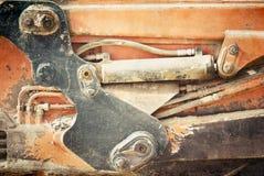 hydraulisk maskin Arkivbild