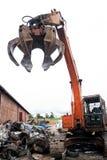 Hydraulisk maskin genom att använda för att lyfta tunga objekt Royaltyfri Foto