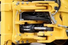 Hydraulisk mekanism av traktoren Royaltyfria Foton