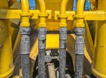 Hydraulisk mekanism för traktor Arkivfoton