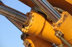 hydraulisk pistong Royaltyfri Bild