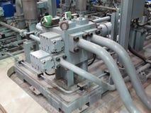 Hydraulisk pump Fotografering för Bildbyråer