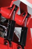 Hydrauliska cylindrar Arkivbild