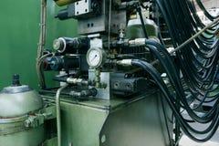 Hydrauliskt system arkivfoto