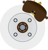 hydrauliskt system för bromsdiskett Arkivfoto