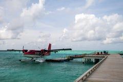 Hydravion au dock Images libres de droits