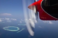 Hydravion en Maldives Photos libres de droits