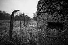 Historical extermination camp bunker Stock Photos