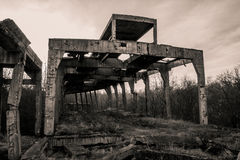 Concrete structure - old WWII ruins Stock Photo