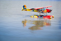 Hydro airplane on water Royalty Free Stock Photography