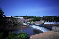 Hydro Dam at Abandoned Cotton Gin. Hydro dam waterfall at abandoned cotton gin Royalty Free Stock Image