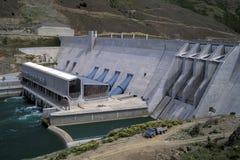 Hydro Dam, Nieuw Zeeland. Stock Foto