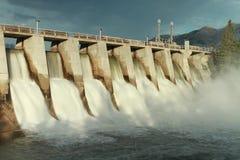 Hydro Dam Spillway. Time exposure of the spillway overflow on the Kananaskis Dam, Alberta, Canada Stock Photography