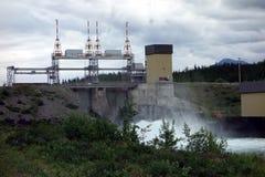 A hydro dam at whitehorse Stock Photos