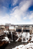 Hydro Dam Winter. A hydro electric dam in the winter Stock Photos