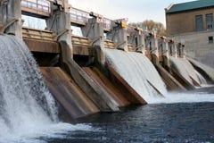 Hydro-electric dam. Barton dam on Huron River in Ann Arbor Stock Image