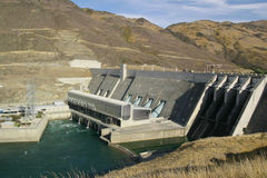 Hydro-Electric Dam. The Clyde Hydro-Electric Dam, South Island, New Zealand Royalty Free Stock Photos