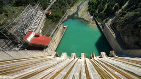 Hydro-Electric Dam in Andalusia Royalty Free Stock Photo