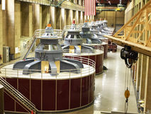 Hydro electric plant. Hydro electric turbine generators at the Hoover Dam Royalty Free Stock Photography