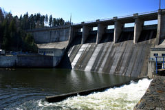 Hydro-electric plant. Czech - barrage on river Moravice - storage water of drinking water Stock Photo