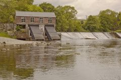 The hydro electric plant at Linton Falls. Royalty Free Stock Images