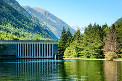 Hydro electric plant south France. Hydro electric plant in the French Pyrenees Royalty Free Stock Images