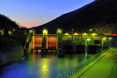 Hydro electric power plant. After rain Stock Images