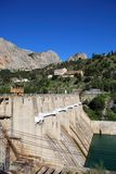 Hydro-electric power plant and dam, Andalusia. Royalty Free Stock Photography