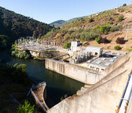 Hydro-electric power station. On Bibei river. Galicia, Spain Royalty Free Stock Images