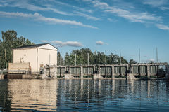 Hydro electric power plant Royalty Free Stock Images