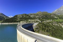 Hydro-electric Tignes dam, Isere valley, Savoie, Royalty Free Stock Images