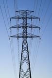 Hydro Electric Tower. A large hydro-electric tower against a clear, blue sky stock images