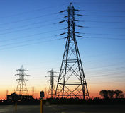 Hydro Electric Transmission Towers Stock Photos
