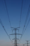 Hydro electrical power tower Royalty Free Stock Photo