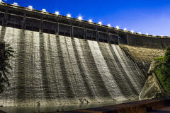 Hydro electricity plant at dusk Stock Image