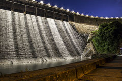 Hydro electricity plant at dusk Stock Photos