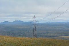 Hydro-electricity power line in Tasmania Australia. Hydro-electricity power line.Tasmania is the leader of renewable energy generation in Australia stock photo